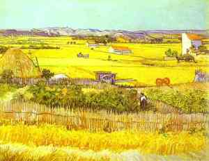 Van-Gogh-painting-art-Harvest-Landscape
